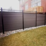 composite fencing with aluminum lattice