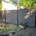 composite fence with aluminum posts