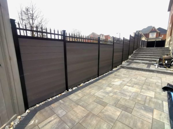 composite fence with lattice
